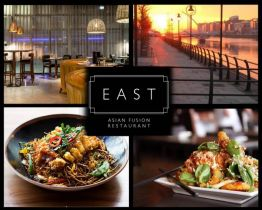 Experience a fantastic 2 Course Asian Fusion Dinner for Two with Bottle of Wine + Tea/Coffee for €50 at East at The Spencer Hotel