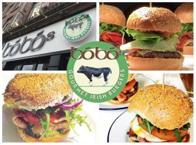 Celebrate the launch of Bóbó's latest restaurant with 50% OFF! Enjoy a Mouth Watering Burger with Sides Incl. Small Chicken Wings, Goujons or Salad for Two People for Only €19.99 in Bóbó's, Middle Abbey St!
