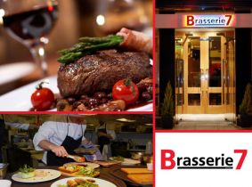 Enjoy a 2 Course Meal for Two with a Bottle of Wine for €39 at Brasserie 7, Capel St!! Available Wednesday to Sunday...