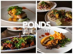 50% Off! Enjoy €40 Worth of food for €20 for Two in Ponds Restaurant, Churchtown!