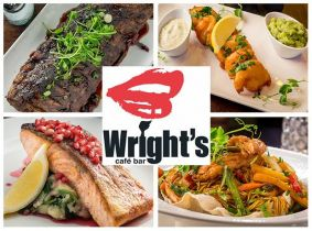 Savour an incredible 2 Course Meal for Two with a Bottle of Wine or 4 Cocktails for Only €45 in Wright's Cafe Bar, Swords!