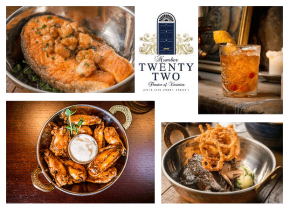 Treat Yourself to a 2 Course Meal for Two with Wine for ONLY €42 in Number Twenty Two, South Anne St!