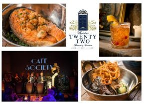 Experience an Unforgettable Evening with Music, Wine & Food in Cafe Society @ Number Twenty Two, Dublin's Sensational New Venue! Offer includes 3 Course Meal for Four with Wine for Only €180!
