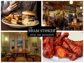 Chicken Wings to Start and Gourmet Burgers for Mains with Beer or Wine for Two for Only €29 in The Bram Stoker, Clontarf!