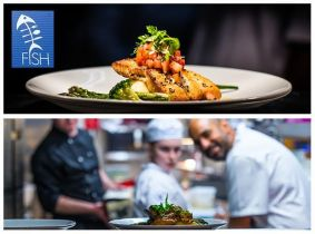 Treat Yourself to a Mouth-Watering 3 Course Meal for Two with a Bottle of Wine for Only €50 in Fish @ The 12th Lock, Castleknock Marina...
