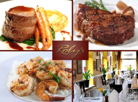 Valid until end of May! Savour a mouth-watering 3 Course Set Dinner with tea/coffee for Two in the famous Roly's Bistro for ONLY €49.95!