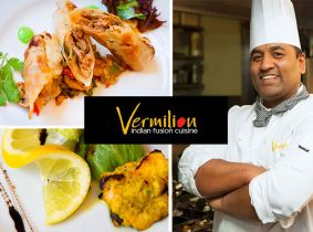 Enjoy €40 Worth of the Finest Indian Cuisine for €20 for Two in the Award-Winning Vermilion Restaurant, Terenure!