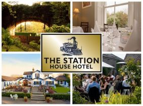 Enjoy a One Night Stay for Two including Breakfast, 3 Course Dinner with Wine and Late Checkout for ONLY €99 in The Station House Hotel!