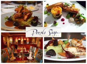 Enjoy a Sumptuous 3 Course Meal for Two with a Bottle of Wine for Only €55 in the Critically-Acclaimed Purple Sage Restaurant, Talbot Hotel Stillorgan