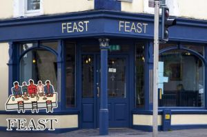 Enjoy a Mouth-Watering 2 Course Meal for Two with Wine for Only €49 in Feast, Dun Laoghaire!