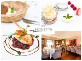 Back by popular demand! Savour a Mouth Watering 4 Course Meal for Two for Only €49.95 in Beckett's, Leixlip!!